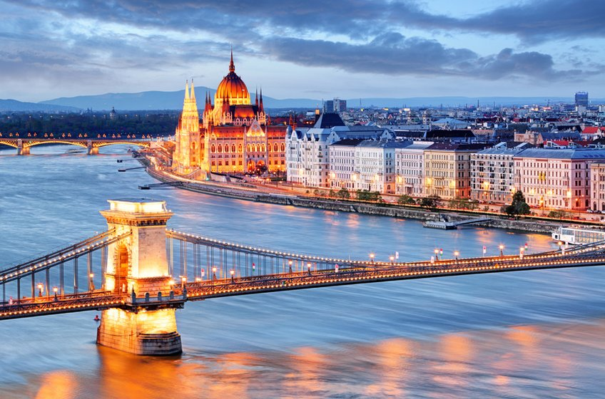 Budapest Chain Bridge and the Parliament