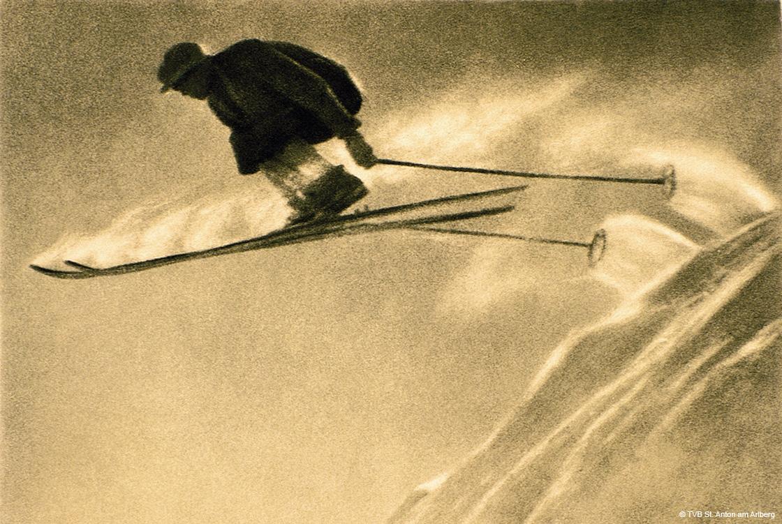 Der weisse Rausch - historischer Skispringer