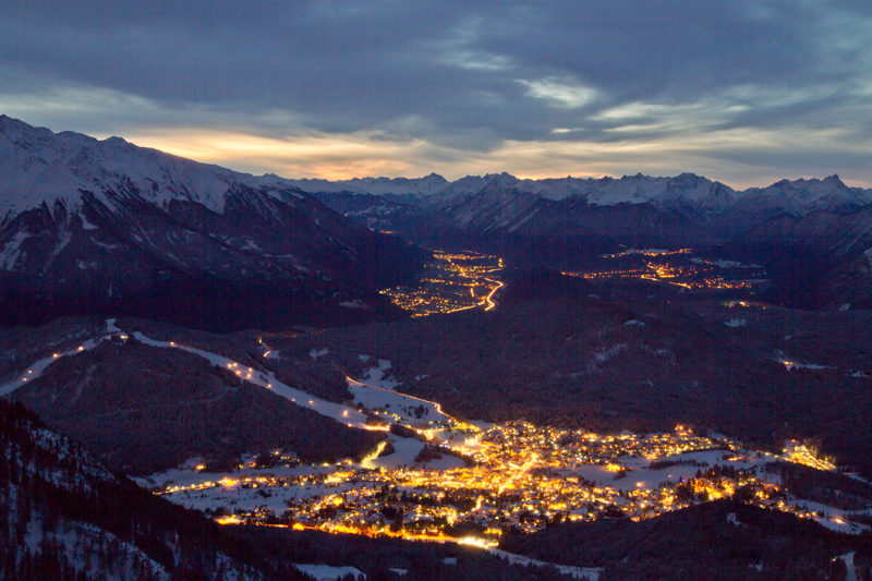 Seefeld in Tirol Nachtaufnahme - © Olympiaregion Seefeld