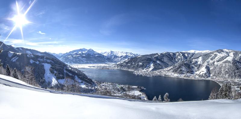 Winteraufnahme von Zeller am See - © Zell am See-Kaprun Tourismus - http://zellamsee-kaprun.com