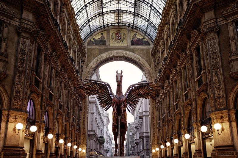 Pegasus gallery statue