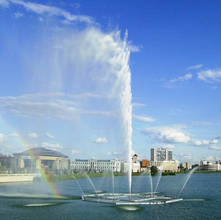 Lake in Kazan and nice weather