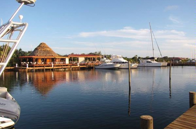Marina des Luxus Resorts in Placencia, Belize